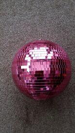 pink mirror ball