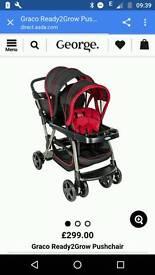 Graco Ready2Grow double stroller, car seat included!