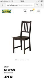 New table with 6 chairs