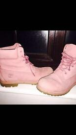 Ladies size 8 pink timberland boots