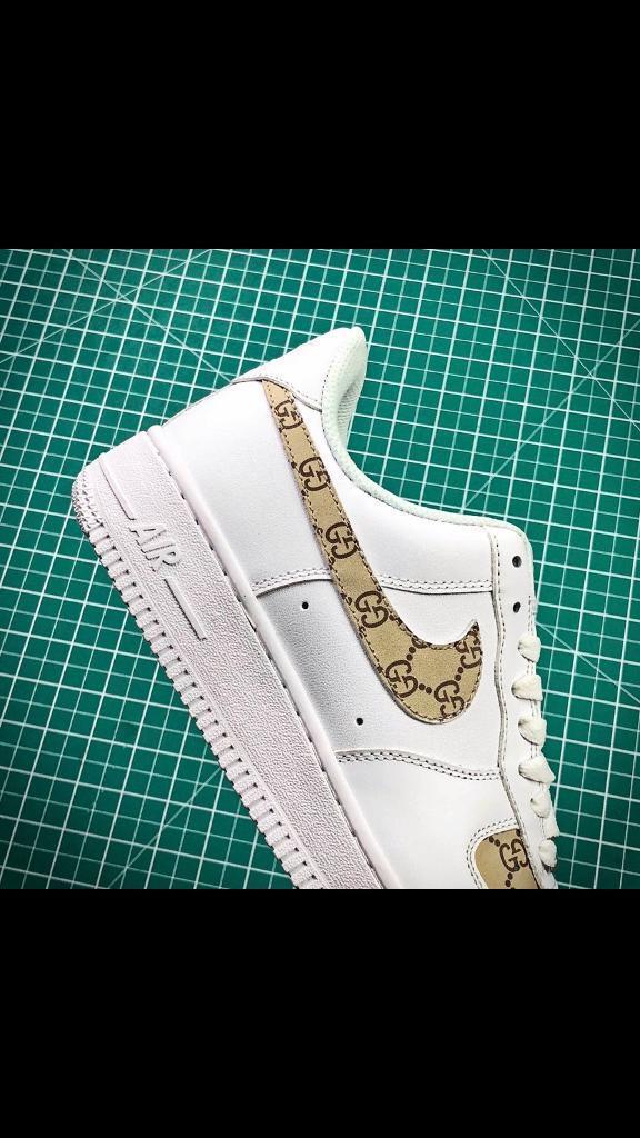 promo code 20814 0ec9f Nike Air Force 1 X Gucci customs