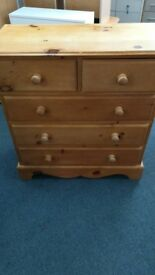 Pine Chest of 3&2 Drawers