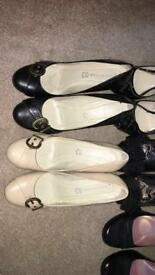 10 pairs of shoes