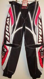 wulfsport race pants motocross motox quad enduroadult size 30 pink