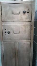 Vintage Metal Lockers x 2 - mid century/retro