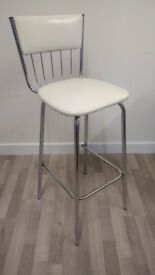 Retro chrome vinyl tall chair 60s/ 70s style photography / kitchen / bar / general chair