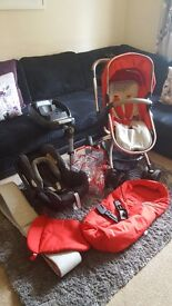 Mothercare orb pushchair - carseat and isofix included