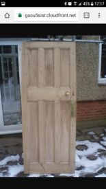 1920 hardwood doors painted white for sale