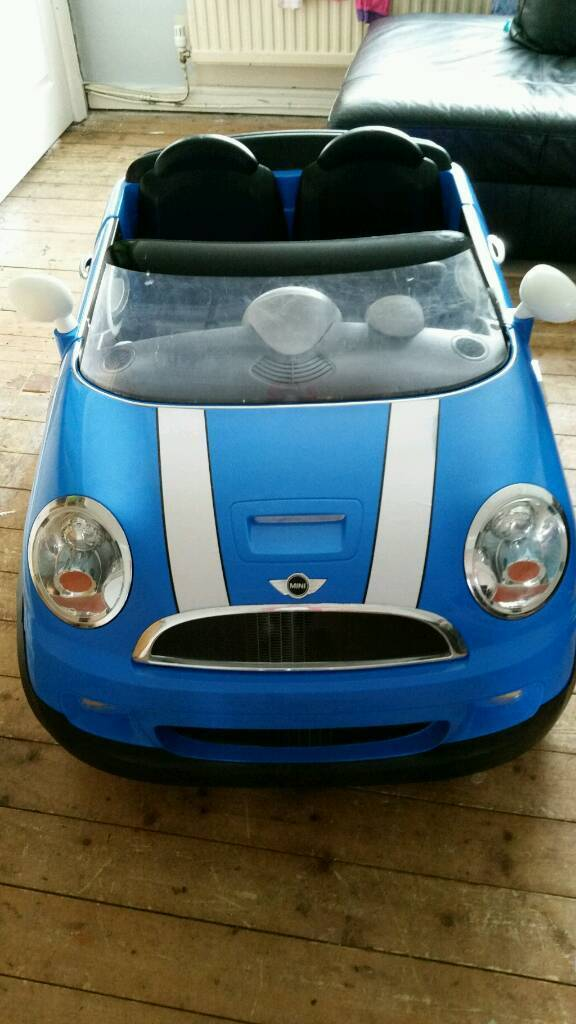 childrens 2 seater mini cooper battery powered car