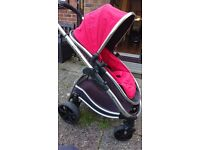 iCandy Strawberry full travelsystem with cot and maxicosi Pebble Car Seat