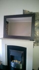 choclate leather mirror