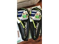 Brand new tennis racquets Babolat pure aero grip size 2 and 3