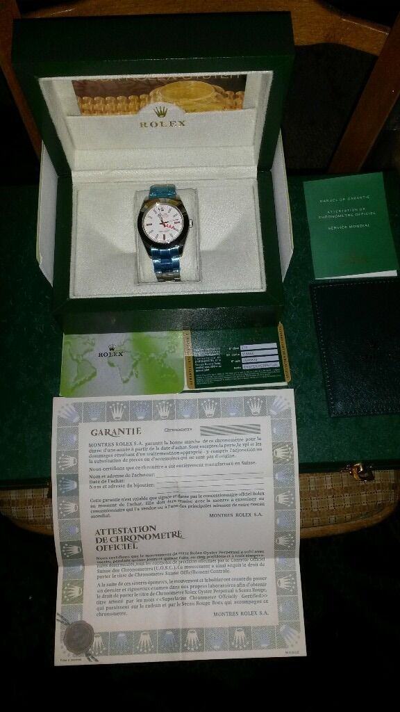 rolex submarimer.milgauss.air king with box and papers