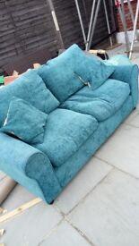 Teal 3 seater sofa