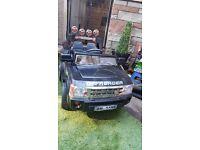 Kids 12v black Range Rover Sport Style 4x4 ride-on jeep