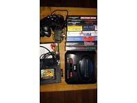 Sega megadrive II with 8 games