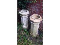 Original victorian chimney pots
