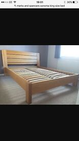 Marks and Spencer's king size bed and mattress, Sonoma, excellent condition, rrp 799