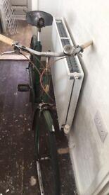 Vintage bsa push bike