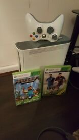 Xbox 360 with two games
