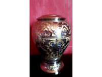 Adult Cremation Urn, For Ashes, Funeral & Keepsake, Colour - Gold/Silver
