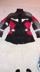 Gore text / leather jacket size extra small