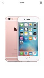 Iphone 6s Rose gold 64g Unlocked with free charging case.
