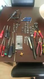 Assorted hand tools,sockets etc