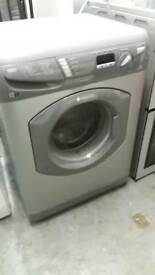 HOTPOINT SILVER DIGITAL DISPLAY WASHING MACHINE