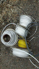 Electrical contracting materials and tools including drums of cable, plastic trunking and conduit