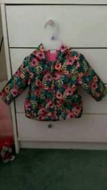 F&F floral lightweight jacket (upto 3m)