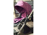 Oyster babystyle 3 in 1 travel system purple