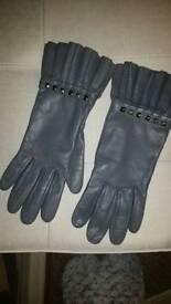 Dents soft grey 100% lined Gloves