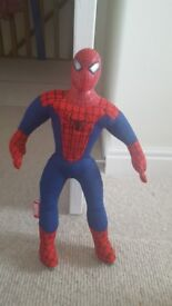 Spiderman and batman soft toy