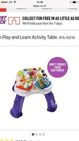 Baby toys activity table and push along walker for sale excellent condition