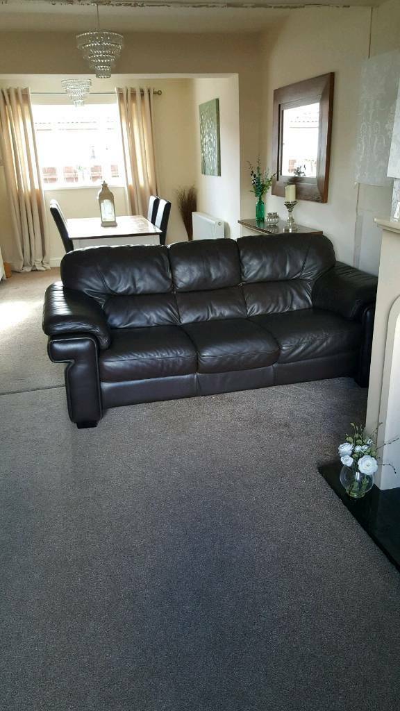 3 + 2 seater real leather couches