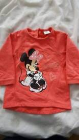 Minnie mouse jumper 6 to 9 months