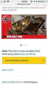 Airfix model: WW1 male tank