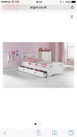 MIA SINGLE BED WITH MATTRESS AND DRAWER UNDERNEATH