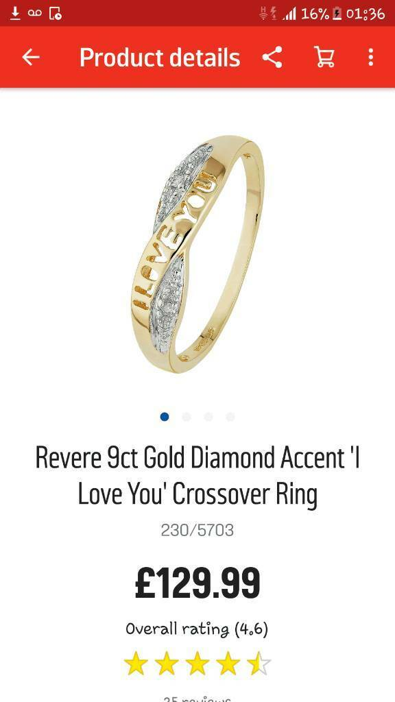 I Love You Diamond Crossover Ring *lower price*