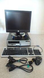 """COMPAQ PC-CASE Disk + DELL Screen 15"""" --NO Hard Drive"""
