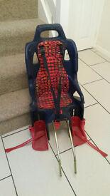 Rear mounted bicycle child seat