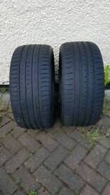 Two tyres new 8mm 265 35 19