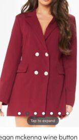 Red dress blazer