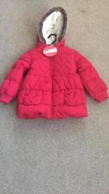 M&S girls coat 2-3
