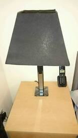 Pair black table lamps