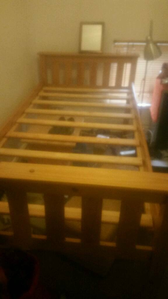 single wooden bed frame and mattress included - Bed Frames With Mattress Included