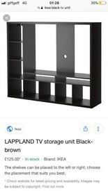 Ikea black tv unit