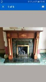Victorian real flame gas fire