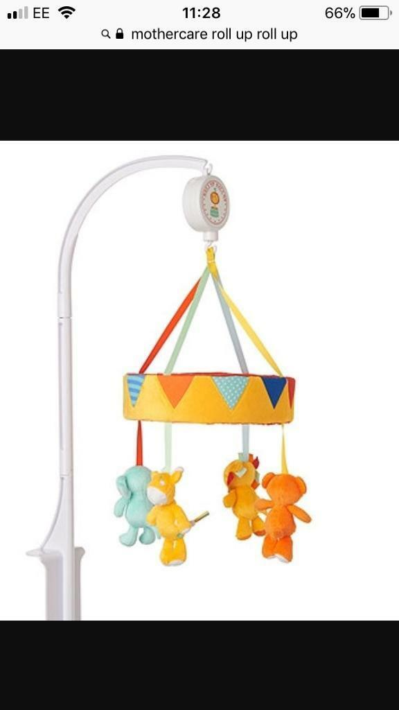 Mothercare roll up roll up circus themed nursery items cot bed bumper mobile 3 canvas lampshade